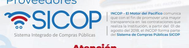 , REGISTRO DE PROVEEDORES EN SICOP